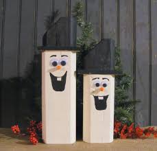 Rustic Christmas Decorations Wooden Snowman Snowmen Rustic Christmas Decor Gft Woodcraft
