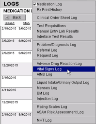 blood pressure and weight log icanotes knowledgebase