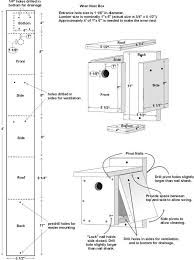 joyous free squirrel house plans 15 wren easy diy project