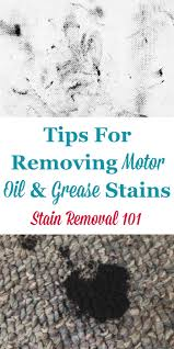 removing motor oil grease sn
