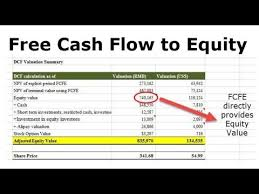 Free Cash Flows Example Free Cash Flow To Equity Fcfe Formula Examples Calculation