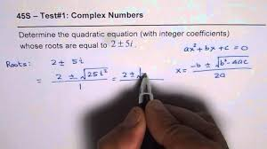 determine quadratic equation with integer coefficients for complex roots