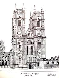 Plain Architectural Buildings Drawings Abby Pen And Ink Drawing By Frederic Kohli For Models Ideas