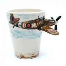 spitfire gifts. airplane spitfire mug hand painting coffee cup gifts collectibles 0003 r