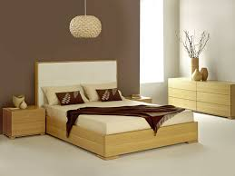 Simple Bedroom Color Simple Bedroom Design With Brown And White Wall Color Plus Unique