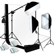 10 x 13 ft bw backdrop support stand photography studio softbox light 3kit