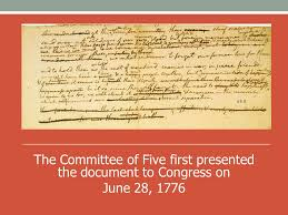 「1776 Committee of Five to draft the Declaration of」の画像検索結果