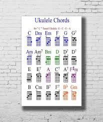 Printable Ukulele Chord Chart For Beginners G 784 Ukulele Chord Chart Art Fabric Home Decoration Art Poster Wall Canvas 12x18 20x30 24x36inch Print