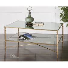 uttermost gold henzler coffee table on diy mirrored coffee table