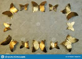 <b>Frame</b> Background <b>Golden Butterfly</b> For A <b>Photo</b> Stock <b>Photo</b> ...