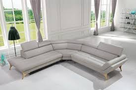 casa graphite modern grey leather sectional sofa