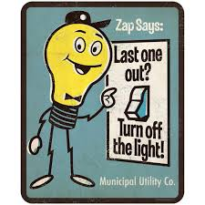 Turn Off That Light Zap Says Turn Off The Light Psa Wall Decal In 2020 Wall
