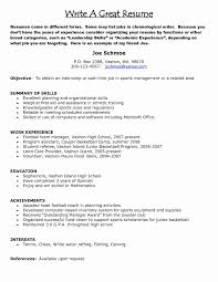 Sports Management Resume Template Inspirational Example A Really
