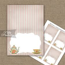 Tea Party Stripe Folded Tent Place Cards