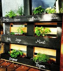 labeled pallet herb garden diy vertical garden recycled wood