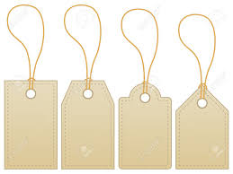 Blank Label Tag Isolated On White Background. Royalty Free Cliparts ...