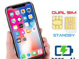 All you need to do is to take a small tiny pice of plastic or paper and put it in the sim tray above the sim card. 3 In 1 Dual Sim Card Power Jacket For Iphone X