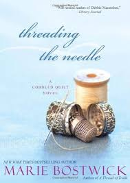 Knitting Quilting Fiction Shelf & Threading the Needle (Cobbled Quilt #4) Adamdwight.com