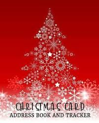 How To Address A Christmas Card Christmas Card Address Book And Tracker Address Book For