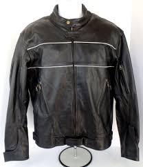 details about men s xelement motorcycle moto cafe racer leather jacket size large l black