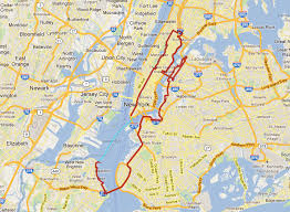 Nyc Marathon Elevation Chart Five Boro Bike Tour Map Nyc Bike Maps
