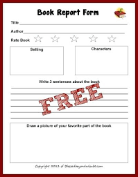 image second grade book report form printable elementary forms free
