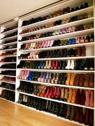 Definitely making a shoe wall when we build our closet in our house