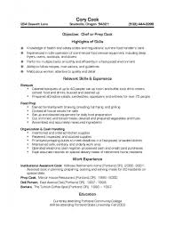 Cook Resume Templates Prep Data Entry Frightening Short Order Duties