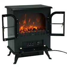 1500w electric free standing fireplace heater with 2 doors fireplaces home garden