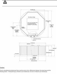 dimension one spas hot tub installation check list page  arena architectural specifications