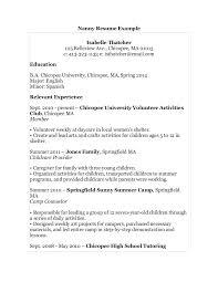 Sample Resume Of A Nanny Sample Resume For Nanny Sample Resume Nanny