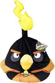 Amazon.com: Rovio Angry Birds Space Potbellie Character Accent Pillow,  Black Bird: Home & Kitchen