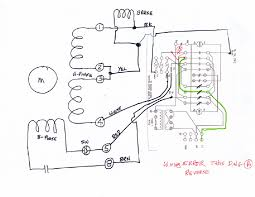 wiring information note the 120vac brake coil is connected across from baldor wire 1 over to the junction of wires 2 and 3 a sketch of the entire motor