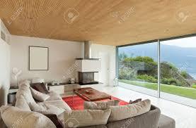 Case Di Montagna Interno : Casa di montagna architettura moderna interni soggiorno foto