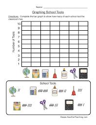 Graphing School Tools Worksheet Have Fun Teaching