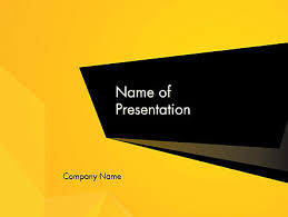 Powerpoint Backgrounds Yellow Geometric Black And Yellow Powerpoint Template Backgrounds
