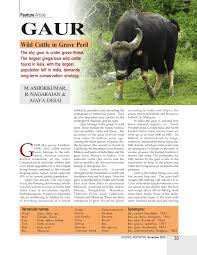 Act biotech and asian gaur