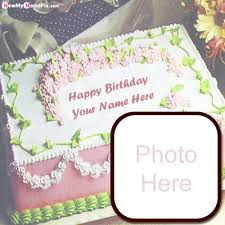 birthday wishes cake with photo frame