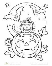 Small Picture Halloween Coloring Pages for 1st Grades Festival Collections
