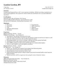 Resume Examples For Nurses New Registered Nurse Healthcare Resume Example Standard X Resume