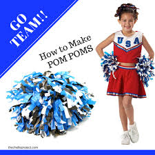 learn how to make diy cheerleading pom pom s to show your team spirit when watching your favorite game i decided to make pom pom s to show team spirit at