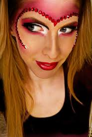 you can either wear this look as the eye makeup alone or go full tilt with the heart mask outline depending on your fort level