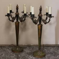 pair of 1930s italian painted table lamps