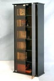 surprising dvd cabinets with glass doors cd dvd storage unit black cabinet glass door bookcase 5