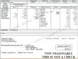 How To Make A Fake Paycheck Fake Pay Stub Template Free Best