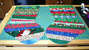 Quilted Christmas Stocking Pattern Best QuiltAsYouGo Christmas Stocking Tutorial Part One Super Mom