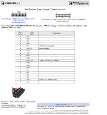 dell optiplex power supply connector pinout diagram @ pinoutguide com Dell Optiplex 780 SFF Power Supply Upgrade at Dell Optiplex 780 Power Supply Wiring Diagram