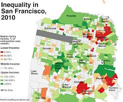 a map of which sf neighborhoods became richer since   curbed sf