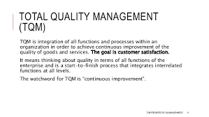 total quality management tqm total