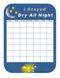 Night Time Potty Training Reward Chart Help Keep Your Children From Wetting The Bed By Rewarding